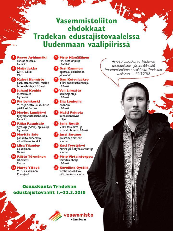 Tradekan vaaleissa ehdolla Keravalta Pia Lohikoski ja Riitta Törmänen.